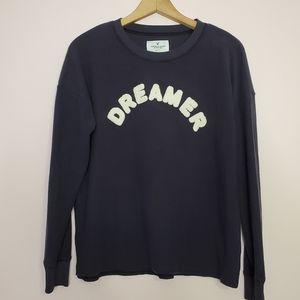"American Eagle Sweater ""Dreamer"" Navy Blue Medium"